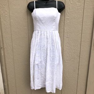 🎄BOGO Kristin Davis | White Eyelet Sun Dress | 4